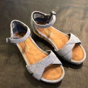 Girls sandals denim blue